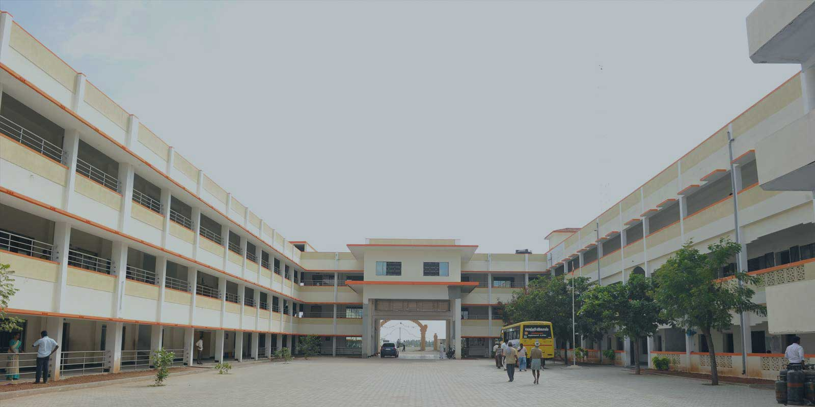 An aerial view of Vetri Vikaas campus and school buildings